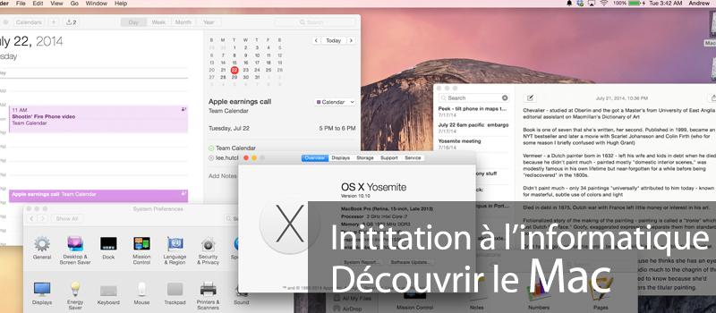 Initiation à l'informatique : découvrir le Mac